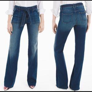 WHITE HOUSE BLACK MARKET | high rise trouser jean
